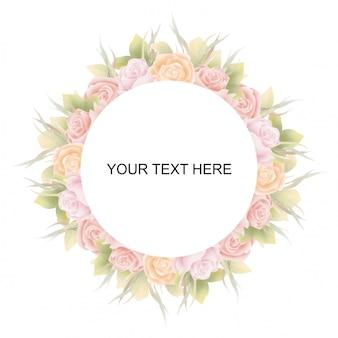 Piękny kwiatowy ślub tło akwarela