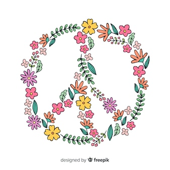 Piękny kwiatowy symbol pokoju