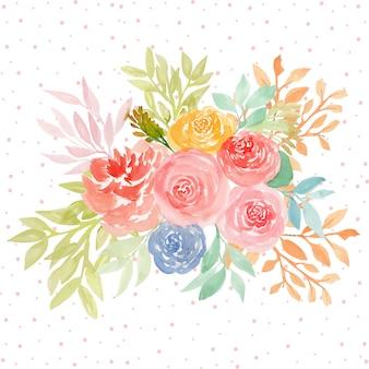 Piękny kwiatowy tło akwarela