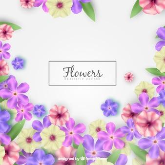 Piękny kwiatowy tło z realistycznym stylu