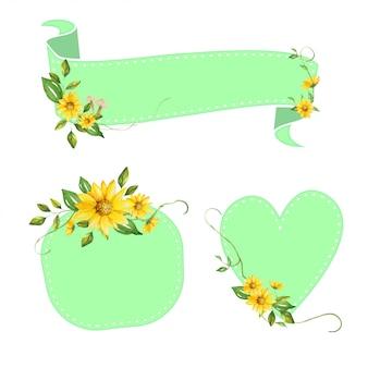 Piękny kwiatowy transparent