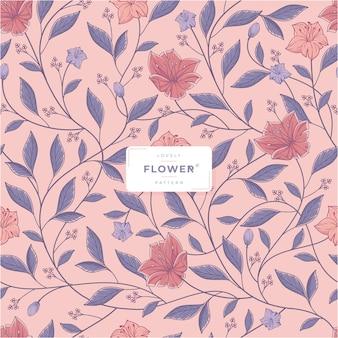 Piękny kwiatowy wzór bez szwu szablonu