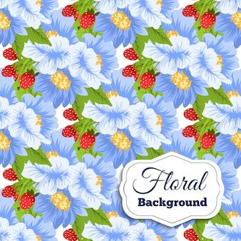 Piękny kwiatowy wzór. ilustracja wektora