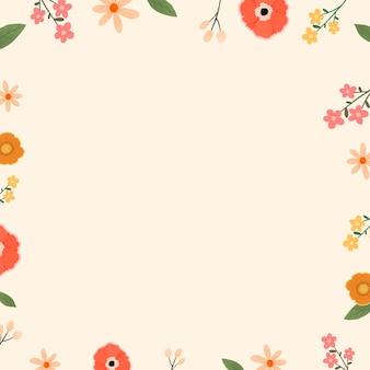 Piękny kwiatowy wzór ramki