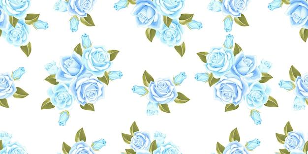 Piękny kwiatowy wzór róży