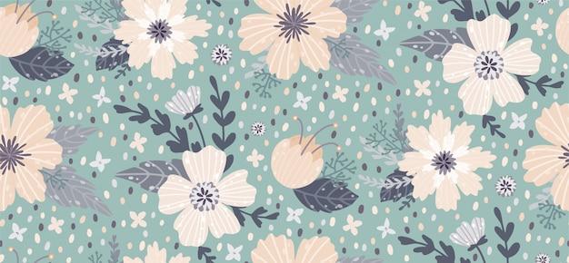 Piękny kwiatowy wzór z kwiatem. kwiecisty bezszwowy tło dla modnych druków.