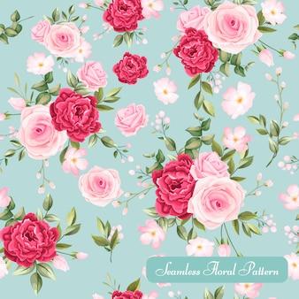 Piękny kwiatowy wzór