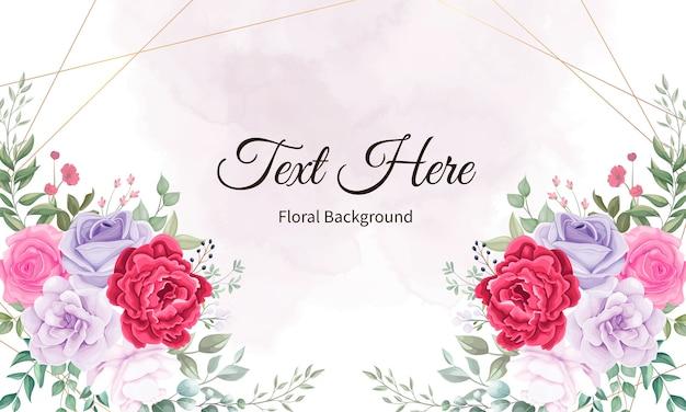 Piękny kwitnący kwiat i liście tło