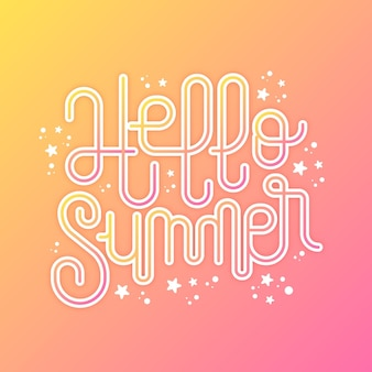 Piękny letni napis