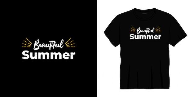 Piękny letni projekt koszulki typografii