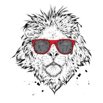 Piękny lew. ilustracja.