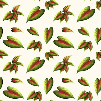 Piękny liść wzór
