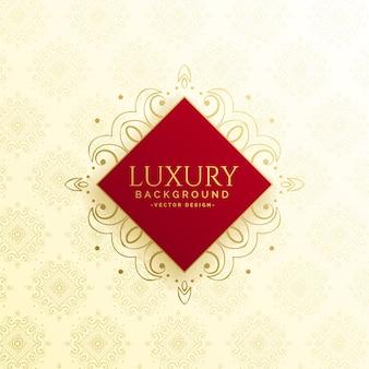 Piękny luksusowy szablon zaproszenia