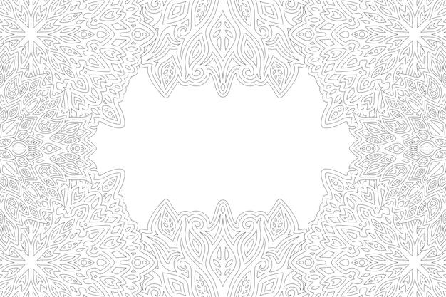 Piękny monochromatyczny liniowy z abstrakcyjnym prostokątnym wschodnim obramowaniem