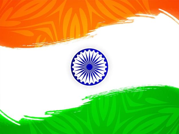 Piękny motyw flagi indyjskiej dzień niepodległości w tle wektor