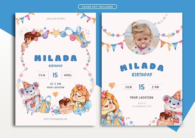 Piękny motyw potwora szablon karty zaproszenie na urodziny