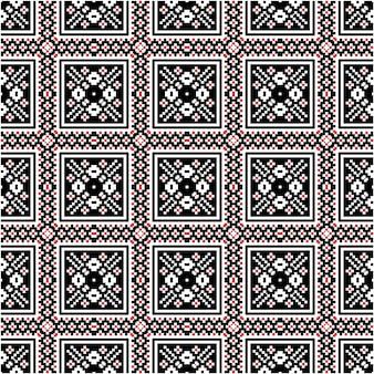 Piękny Mozaikowy Wzór Z Indonezyjskim Stylem Batiku Premium Wektorów