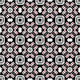 Piękny mozaikowy wzór z indonezyjskim stylem batiku