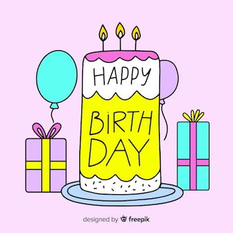 Piękny napis z okazji urodzin