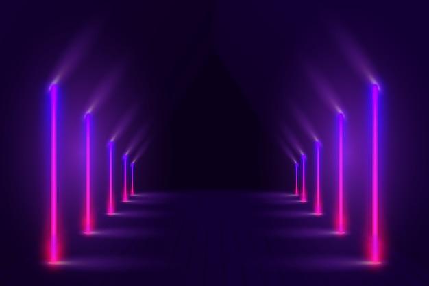Piękny neonowy wzór tła