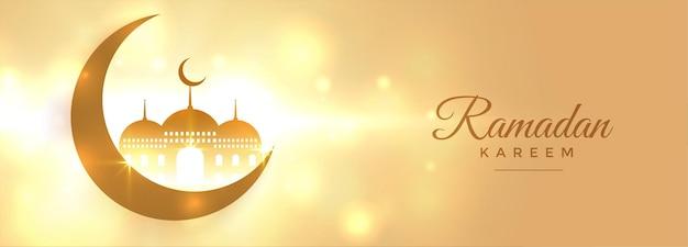 Piękny niebiański sztandar ramadan kareem