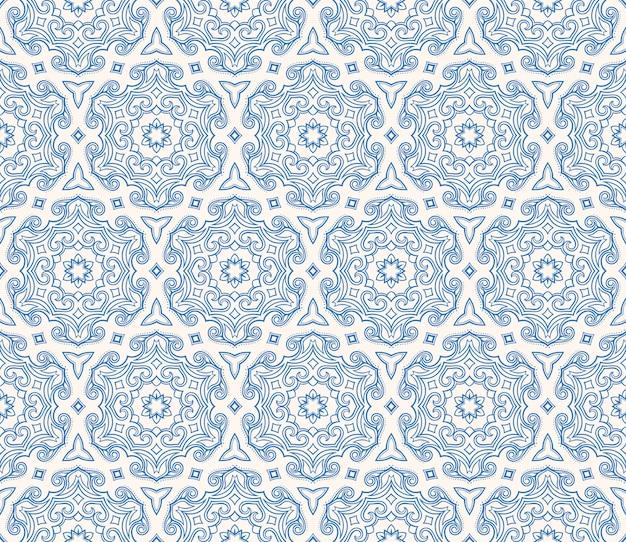 Piękny niebieski sześciokątny wzór