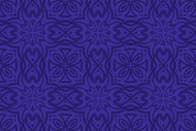 Piękny niebieski wzór płytki bez szwu