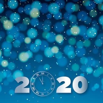 Piękny niewyraźny nowy rok 2020