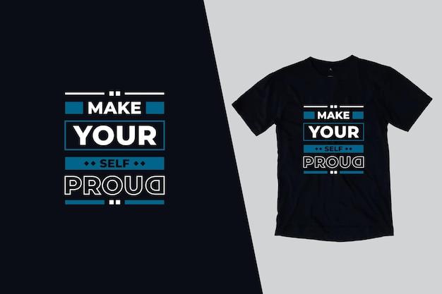 Piękny nowoczesny projekt koszulki cytaty