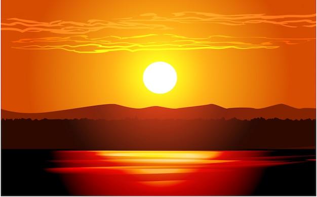 Piękny obraz blask słońca
