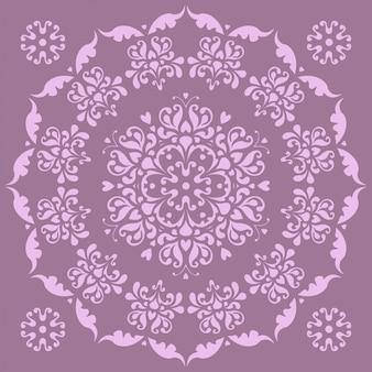 Piękny okrągły wzór - irysy.
