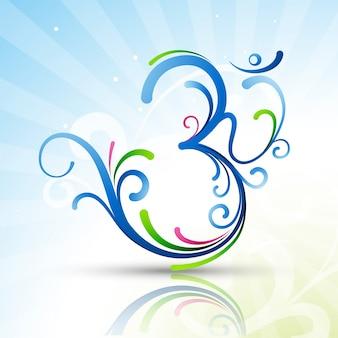 Piękny om symbol