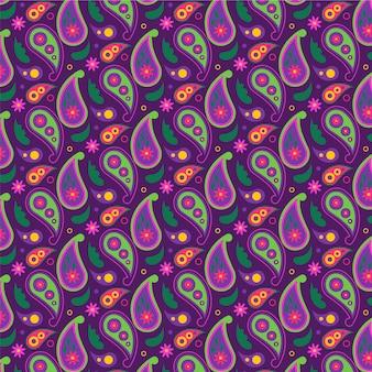 Piękny paisley tradycyjny wzór bez szwu