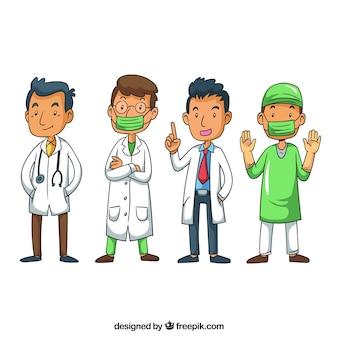 Piękny pakiet profesjonalnych lekarzy