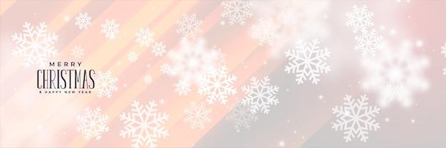 Piękny płatek śniegu sztandar dla bożych narodzeń przyprawia