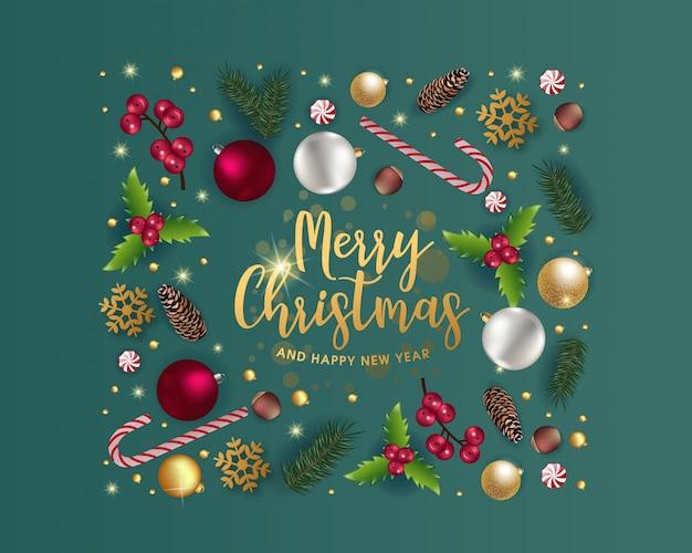 Piękny projekt kartki świąteczne