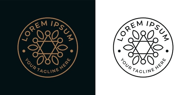 Piękny projekt logo vintage geometrii