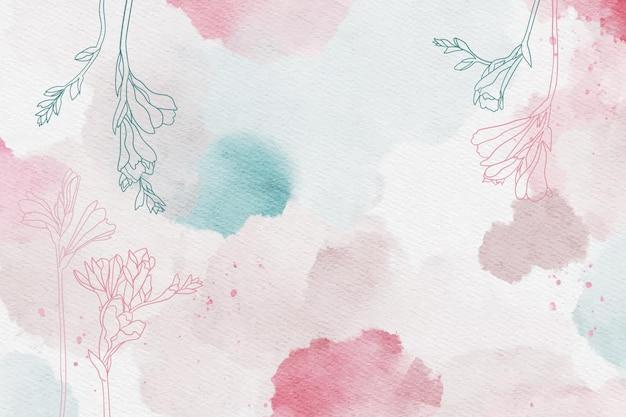 Piękny pudrowy pastel z ręcznie rysowanymi elementami