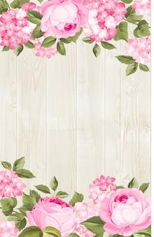 Piękny purpurowy kwiat hortensji