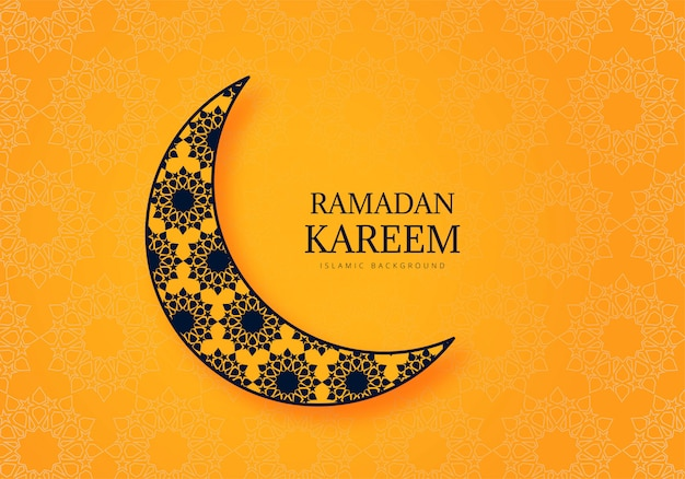 Piękny ramadan kareem celebracja karta tło