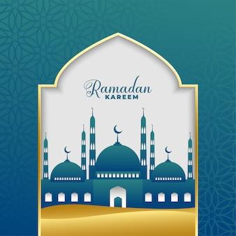 Piękny ramadan kareem islamski tło