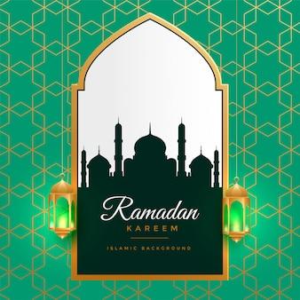 Piękny ramadan kareem złoty islamski tło