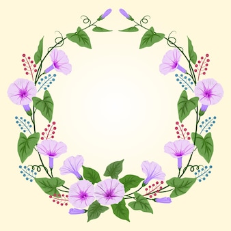 Piękny, ranny, chwała, kwiaty, wieniec.