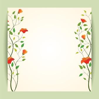 Piękny retro wektorowy kwiatu sztandaru tło