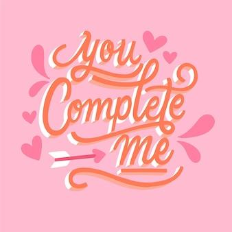 Piękny romantyczny napis