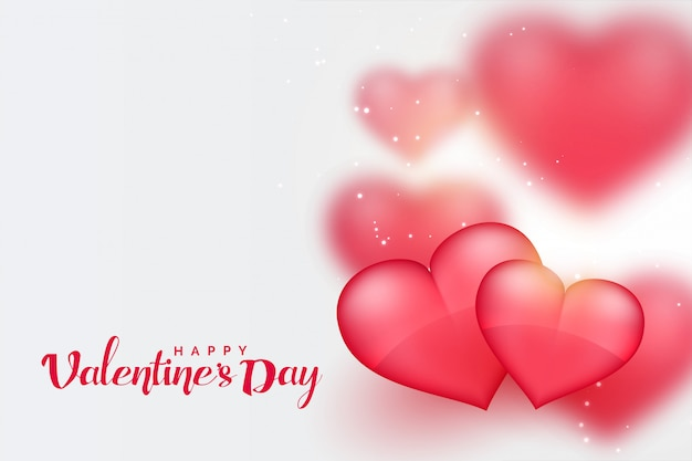 Piękny różowy 3d serc valentines dnia tło