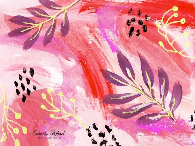 Piękny różowy i czerwony pociągnięcia pędzlem abstrakcyjne tło malarskie