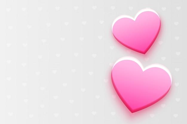 Piękny różowy serca tło z tekst przestrzenią