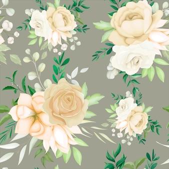 Piękny rysunek kwiatowy wzór bez szwu