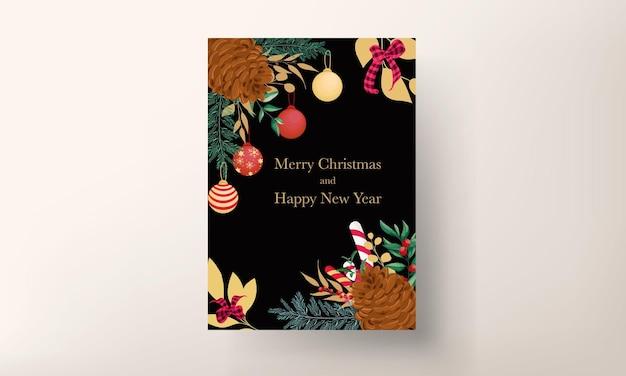 Piękny rysunek odręczny projekt kartki świątecznej